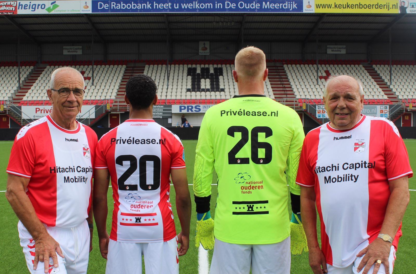FC Emmen draagt trots het Ouderenfonds in eredivisie